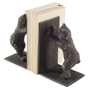 Picture of 57920 - Perry Black Playful Bear Cub Bookends