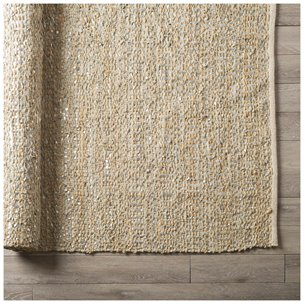 Picture of 70012 - Doret 8 x 10 Tan Jute, Cotton, and Leather Rug