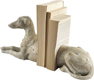 Picture of 67642 - Torben I White European Greyhound Bookend
