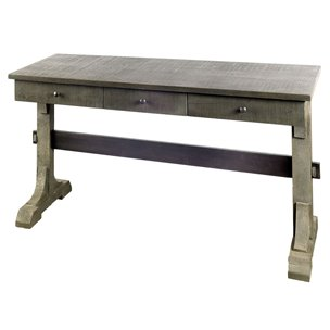 Picture of 67627 - Barrett VII 53.8x29.8 Gray Solid Wood Three Drawer Writing Desk