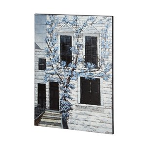 Picture of 67721 - Courtyard Escape 36x48 House Original Hand Painted on Wood Oil Painting