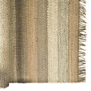 Picture of 70009 - Dolomite 8 x 10 Jute Multi-Colored Braided Fringe Edge Rug
