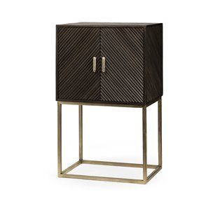 Picture of 67745 - Kodiak I 30x48 Brown Solid Wood Gold Metal Base Two Door Cabinet