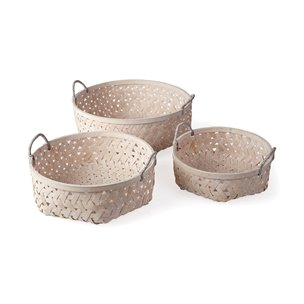 Picture of 67911 - Mallory Set of 3 Round Natural Tone Wicker Baskets