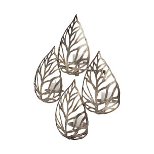 Picture of 68437 - Lana II Set of 4 Champagne toned Wall Candle Holders
