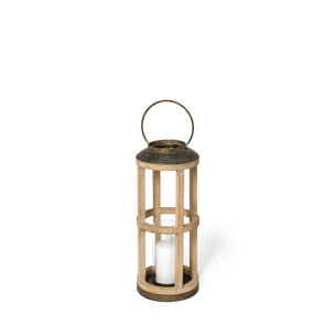 Picture of 68442 - Andy II Small Natural Wood Cylindrical Lantern