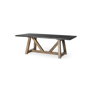 Picture of 68482 - Rialto II 84x42 Rectangular Two-Tone Brown Solid Wood Dining Table