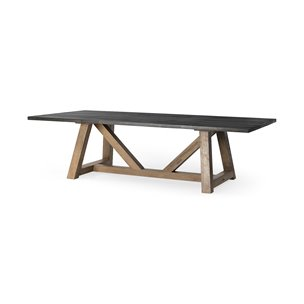 Picture of 68483 - Rialto III 96x42 Rectangular Two-Tone Brown Solid Wood Dining Table