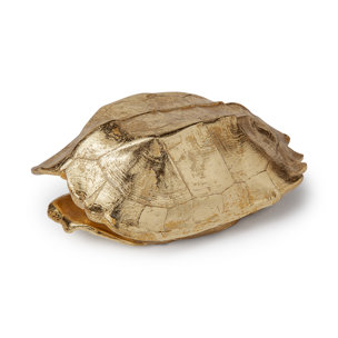 Picture of 68583 - Morla Medium Gold Resin Turtle Shell Box