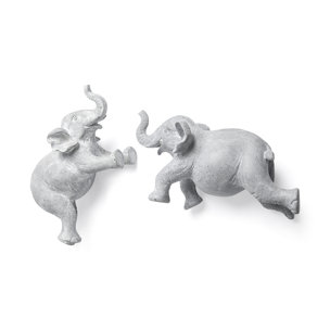 Picture of 68581 - Maynard I  Set of 2 Grey Elephant Wall Decorations