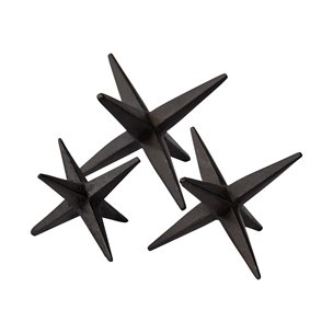 Picture of 68650 - Rhea Set of 3 Rusty Black Cast Iron Small Medium & Large Black Metal Jackset