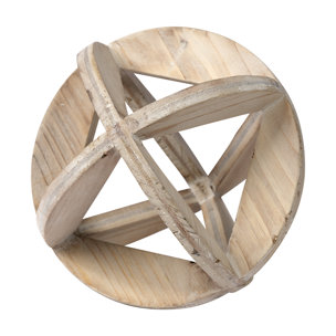 "Picture of 68644 - Bellatrix II (7"") Whitewashed Decorative Wooden Sphere"