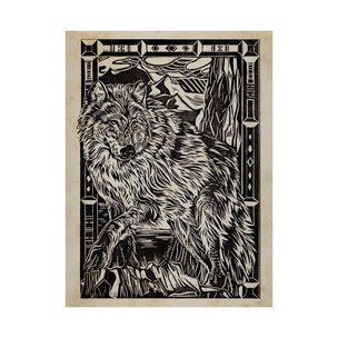 Picture of 101626-L - Linocut IV (Wolf) (40 x 55)