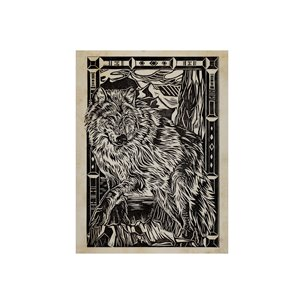 Picture of 101626-S - Linocut IV (Wolf) (30 x 40)