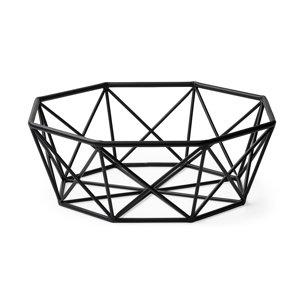 Picture of 68799 - Davy  Large Black Metal Hexagonal Bowl