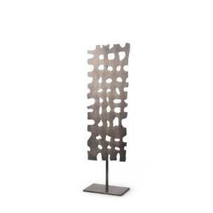 Picture of 68812 - Shaw I (17.9H) Rectangular Decorative Object on a stick in Gun Metal Gray