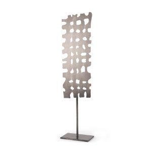Picture of 68813 - Shaw II (21.1H) Rectangular Decorative Object on a stick in Gun Metal Gray