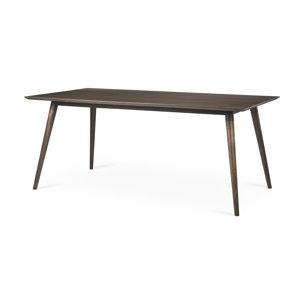 Picture of 68844 - Nicholas II 72x39 Brown Solid Wood Top Metal/Wood Leg Dining Table