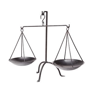 Picture of 68854 - Adilah vintage inspired weighing scale in rustic Black