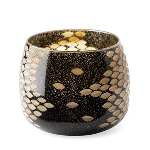Picture of 69036 - Mojave Small Black and Gold Detail Glass Vase
