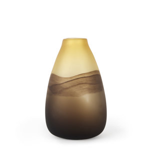 Picture of 69040 - Pyla Large Yellow/Brown Glass Sand Dune Inspired Vase