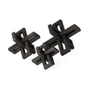 Picture of 68962 - Aleph Set of 3 Small Medium & Large Black Metal Jacks